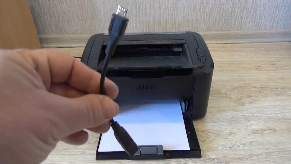 печать с телефона с использованием кабеля OTG